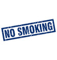 square grunge blue no smoking stamp vector image vector image