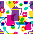 tea time seamless pattern vector image vector image