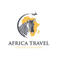 travel agency to africa vector image vector image