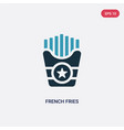 two color french fries icon from united states vector image vector image