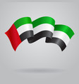 United Arab Emirates waving Flag
