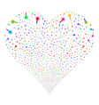 wand magic tool fireworks heart vector image vector image