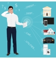 Man businessman feeling bad worried stress at home vector image