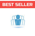 set of linear art icons business team team vector image