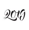 2019 new year christmas calligraphy numbers vector image