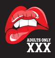 ADULTS ONLY XXX 2 vector image vector image