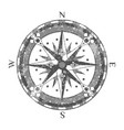 ancient compass rose isolated icon vector image vector image