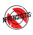 appendicitis rubber stamp vector image