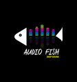audio fish for music vector image