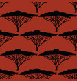 beautiful hand-drawn african tree seamless pattern vector image vector image