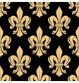 Black and beige royal seamless pattern vector image