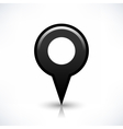 Black blank map pin sign round location icon vector image vector image