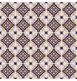 blue and yellow ceramic tile pattern vector image vector image