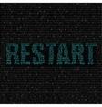blue restart code background vector image vector image
