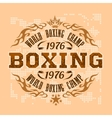 Boxing vintage label for poster flyer or t vector image vector image