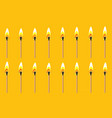burning match animation sprite yellow back ground vector image vector image