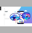 business series - chat web template vector image vector image
