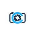 camera letter c logo icon design vector image vector image