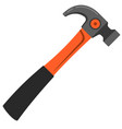 carpenter hammer flat style typical simplistic vector image