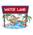 children at the water land vector image vector image