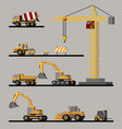 construction vehicles collection vector image vector image