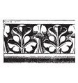 cornice molding from notre dame paris ledge vector image vector image