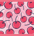 cute cherries pattern background vector image vector image