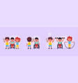 disabled children and friends boys in wheelchair vector image