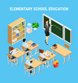 education isometric concept vector image vector image