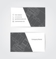 engineering business card engineering drawings vector image vector image