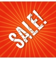 explosion with sale text vector image vector image