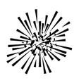fireworks explosion decorative frame vector image