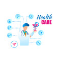 flat health care doctor consultation vector image vector image