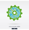 flat icons in a cogwheel shape medical health vector image vector image