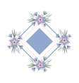 floral vignette in the form of a rhombus vector image vector image