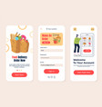 food grocery delivery shop cafe searching mobile vector image