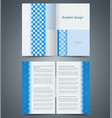 geometric blue bifold brochure template design vector image