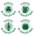 green icon set for st patricks day vector image vector image
