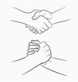 handshake set vector image vector image