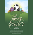 happy easter soccer ball in form egg vector image