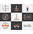 Hookah labels badges and design elements vector image vector image