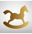 Horse toy sign Flat style icon vector image vector image