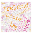 Ireland For Todays Tourist text background vector image vector image
