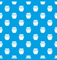 jam in glass jar pattern seamless blue vector image vector image