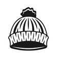 knitted hat lumberjack black object vector image vector image