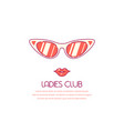 ladies club concept banner vector image vector image