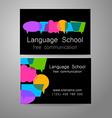 language school logo vector image vector image