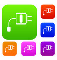 mini charger set collection vector image vector image