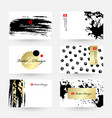 modern cards with ink hand drawn elements vector image vector image