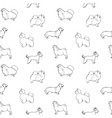 monochrome seamless pattern with dogs of various vector image